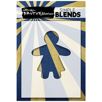 Brutus Monroe SIMPLE BLEND GINGERBREAD GIRL Stencil bru1319