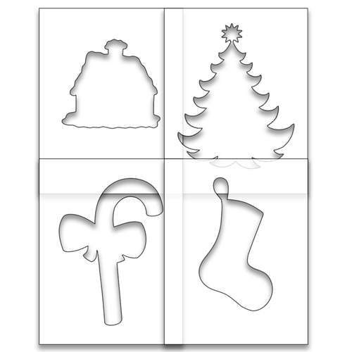 Brutus Monroe SIMPLE BLEND HOME FOR THE HOLIDAYS Stencil Set bru1333 Preview Image