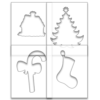 Brutus Monroe SIMPLE BLEND HOME FOR THE HOLIDAYS Stencil Set bru1333