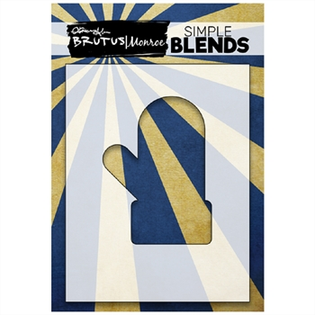 Brutus Monroe SIMPLE BLEND MITTEN Stencil bru1340