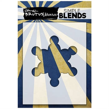 Brutus Monroe SIMPLE BLEND NORTH POLE SNOWFLAKE Stencil bru1357
