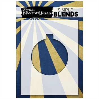 Brutus Monroe SIMPLE BLEND ORNAMENT Stencil bru1364