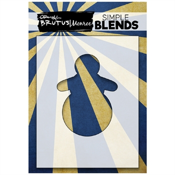 Brutus Monroe SIMPLE BLEND SNOWMAN Stencil bru1401