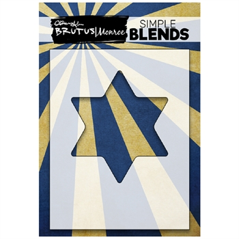 Brutus Monroe SIMPLE BLEND STAR OF DAVID Stencil bru1425
