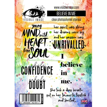 Visible Image BELIEVE IN ME Clear Stamp Set VIS-BIM-01