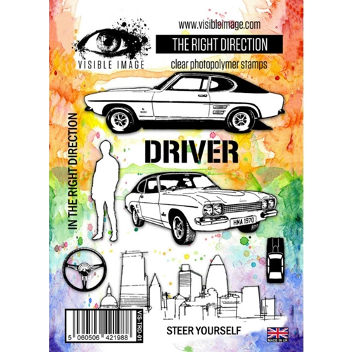 Visible Image THE RIGHT DIRECTION Clear Stamp Set VIS-TRD-01 Preview Image