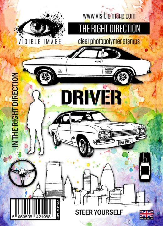 Visible Image THE RIGHT DIRECTION Clear Stamp Set VIS-TRD-01 zoom image