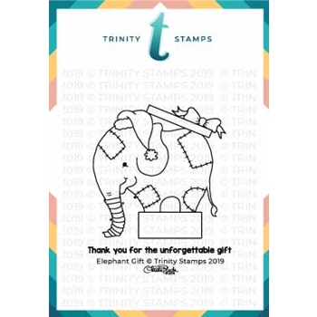 Trinity Stamps ELEPHANT GIFT Clear Stamp Set tps-011