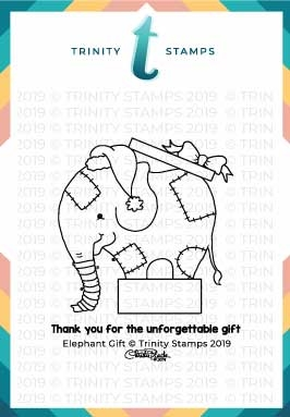 Trinity Stamps ELEPHANT GIFT Clear Stamp Set tps-011 zoom image