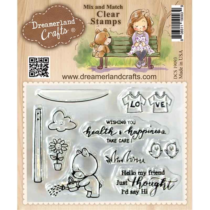 Dreamerland Crafts HEALTH AND HAPPINESS Mix And Match Clear Stamp Set dcs19093 zoom image