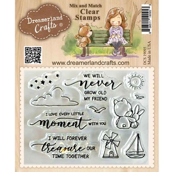 Dreamerland Crafts FOREVER TREASURE Mix And Match Clear Stamp Set dcs19095