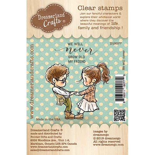 Dreamerland Crafts WE WILL NEVER Clear Stamp Set d19077 Preview Image