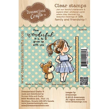 Dreamerland Crafts HOW WONDERFUL Clear Stamp Set d19079