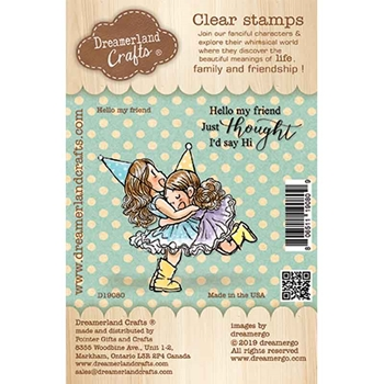 Dreamerland Crafts HELLO MY FRIEND Clear Stamp Set d19080