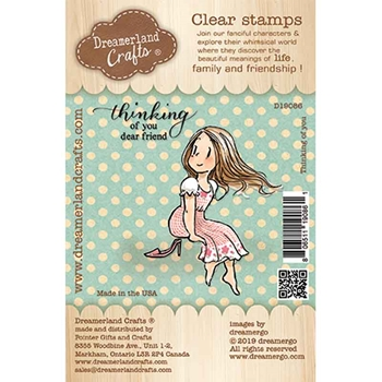 Dreamerland Crafts THINKING OF YOU Clear Stamp Set d19086