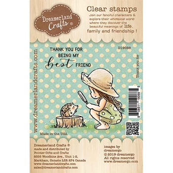 Dreamerland Crafts THANK YOU FOR Clear Stamp Set d19088