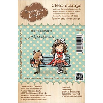 Dreamerland Crafts COUNTING DOWN TO CHRISTMAS Clear Stamp Set d19065