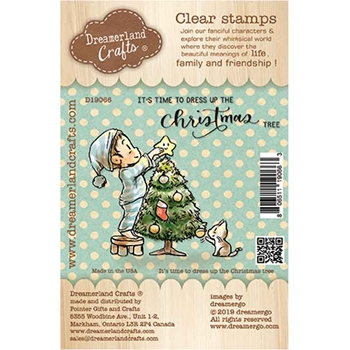 Dreamerland Crafts IT'S TIME TO DRESS UP THE CHRISTMAS TREE Clear Stamp Set d19066
