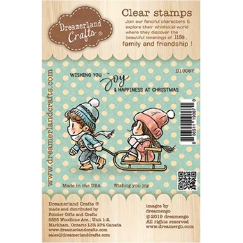 Dreamerland Crafts WISHING YOU JOY Clear Stamp Set d19067