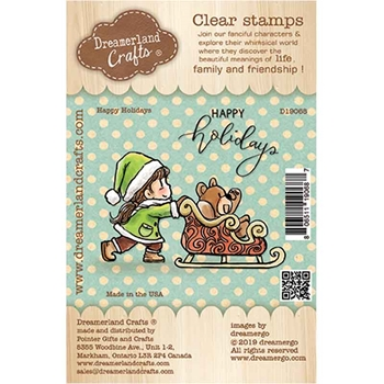 Dreamerland Crafts HAPPY HOLIDAYS Clear Stamp Set d19068