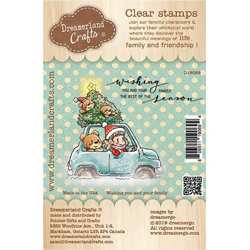 Dreamerland Crafts WISHING YOU AND YOUR FAMILY Clear Stamp Set d19069 zoom image