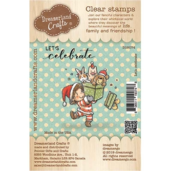 Dreamerland Crafts LET'S CELEBRATE Clear Stamp Set d19074