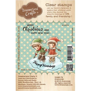 Dreamerland Crafts MERRY CHRISTMAS Clear Stamp Set d19076