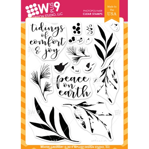 Wplus9 WINTER GREENERY Clear Stamps cl-wp9wg Preview Image