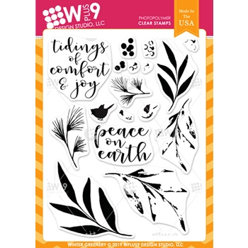 Wplus9 WINTER GREENERY Clear Stamps cl-wp9wg