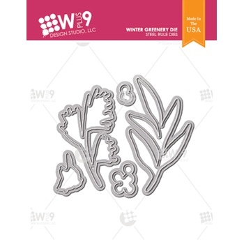 Wplus9 WINTER GREENERY Designer Dies wp9d-0233