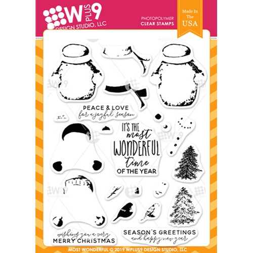 Wplus9 MOST WONDERFUL Clear Stamps cl-wp9mwon Preview Image