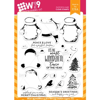 Wplus9 MOST WONDERFUL Clear Stamps cl-wp9mwon