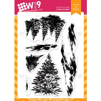 Wplus9 SNOW SCENES Clear Stamps cl-wp9snosc
