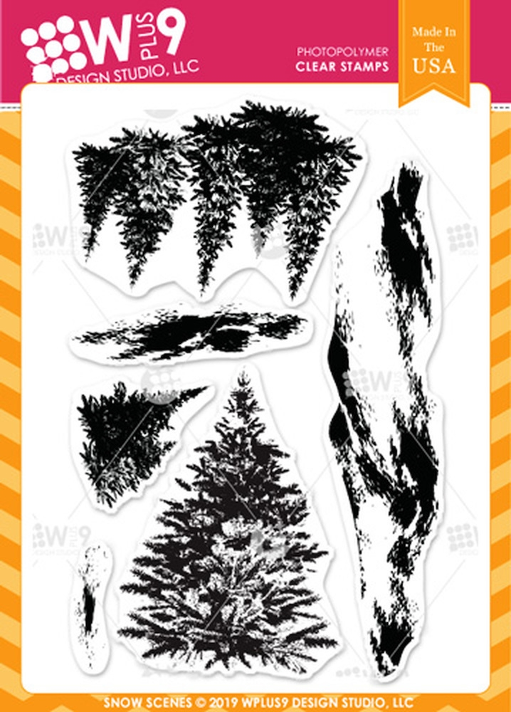 Wplus9 SNOW SCENES Clear Stamps cl-wp9snosc zoom image