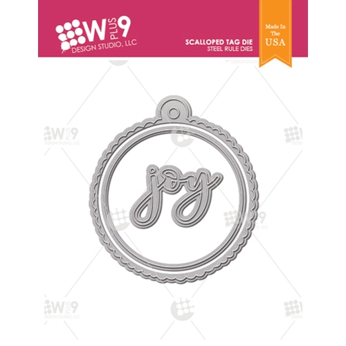 Wplus9 SCALLOPED TAG Designer Dies wp9d-0237 Preview Image
