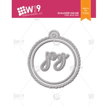 Wplus9 SCALLOPED TAG Designer Dies wp9d-0237