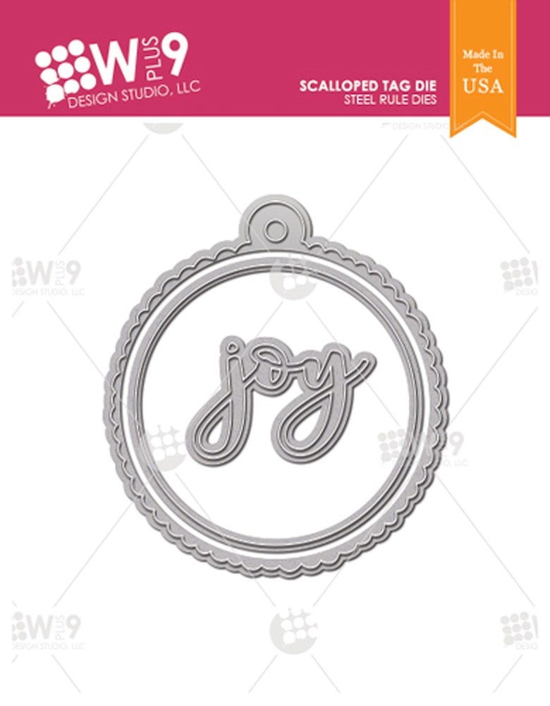 Wplus9 SCALLOPED TAG Designer Dies wp9d-0237 zoom image