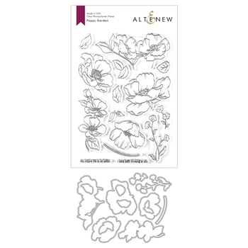 Altenew POPPY GARDEN Clear Stamp and Die Bundle ALT3624