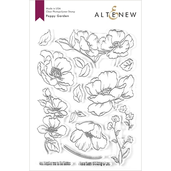 Altenew POPPY GARDEN Clear Stamps ALT3621