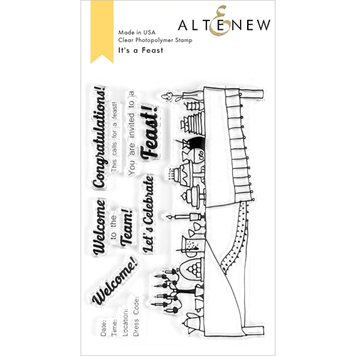 Altenew IT'S A FEAST Clear Stamps ALT3612 Preview Image