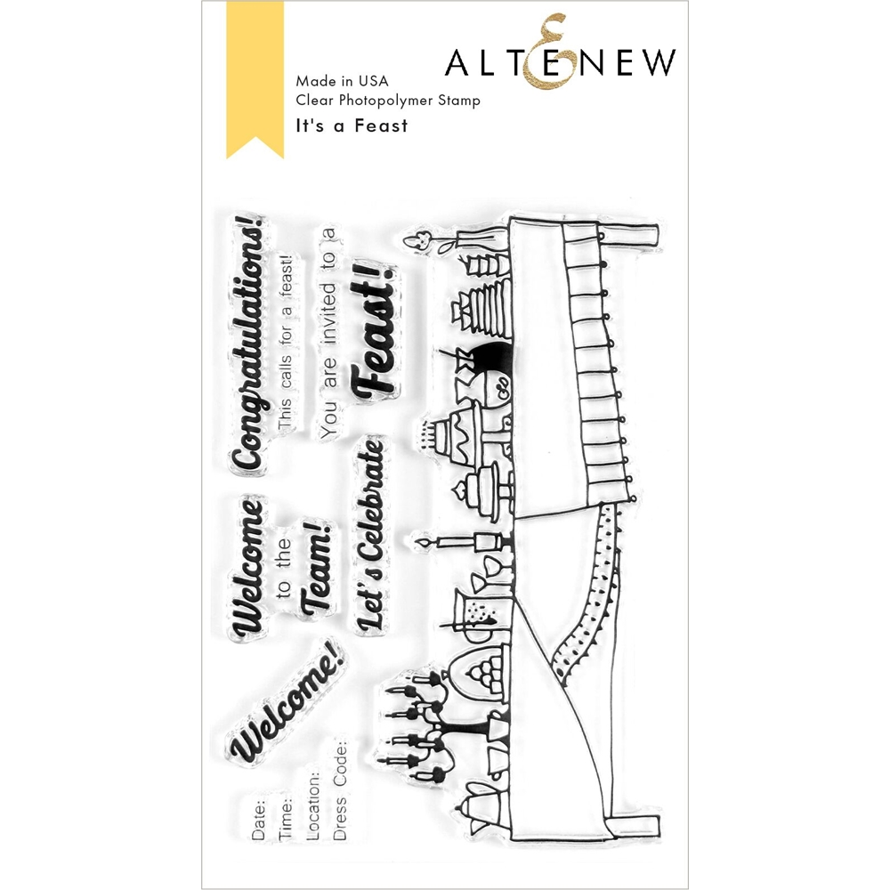 Altenew IT'S A FEAST Clear Stamps ALT3612 zoom image