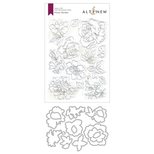 Altenew FLOWER GARDEN Stamp and Die Bundle ALT3611 Preview Image