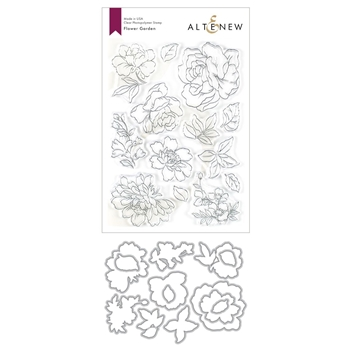 Altenew FLOWER GARDEN Stamp and Die Bundle ALT3611
