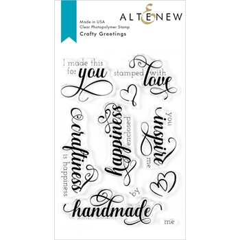 Altenew CRAFTY GREETINGS Clear Stamps ALT3609