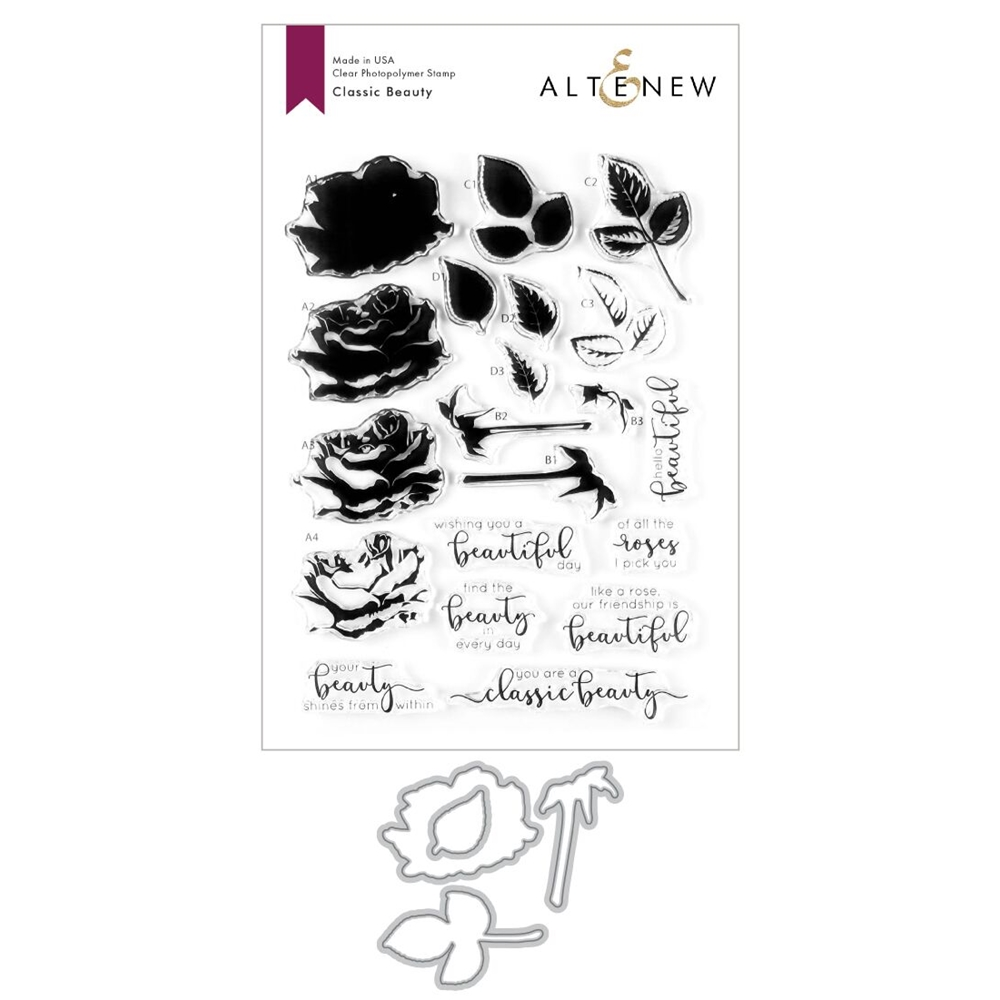Altenew CLASSIC BEAUTY Clear Stamp and Die Bundle ALT3607 zoom image