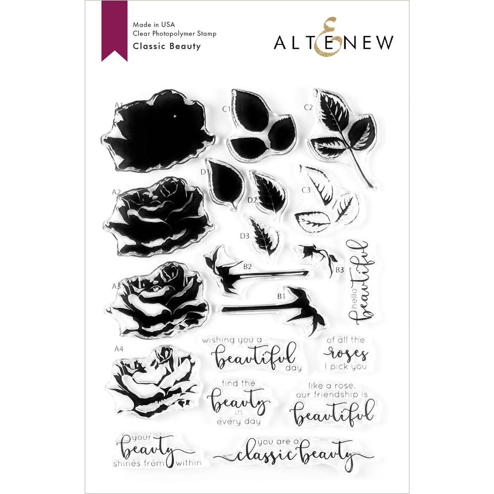 Altenew CLASSIC BEAUTY Clear Stamps ALT3604 zoom image