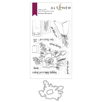 Altenew BREEZY BOUQUET Clear Stamp and Die Bundle ALT3603