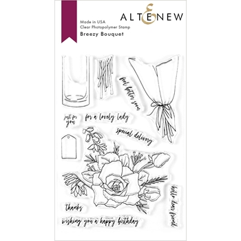 Altenew BREEZY BOUQUET Clear Stamps ALT3601