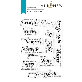 Altenew ACROSS THE POND Clear Stamps ALT3600