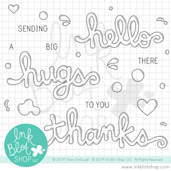Ink Blot Shop Clear Stamp Set BUBBLE WORDS inbl081